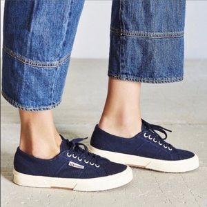 Women's Superga 2750 Canvas Blue Shoes 8 US